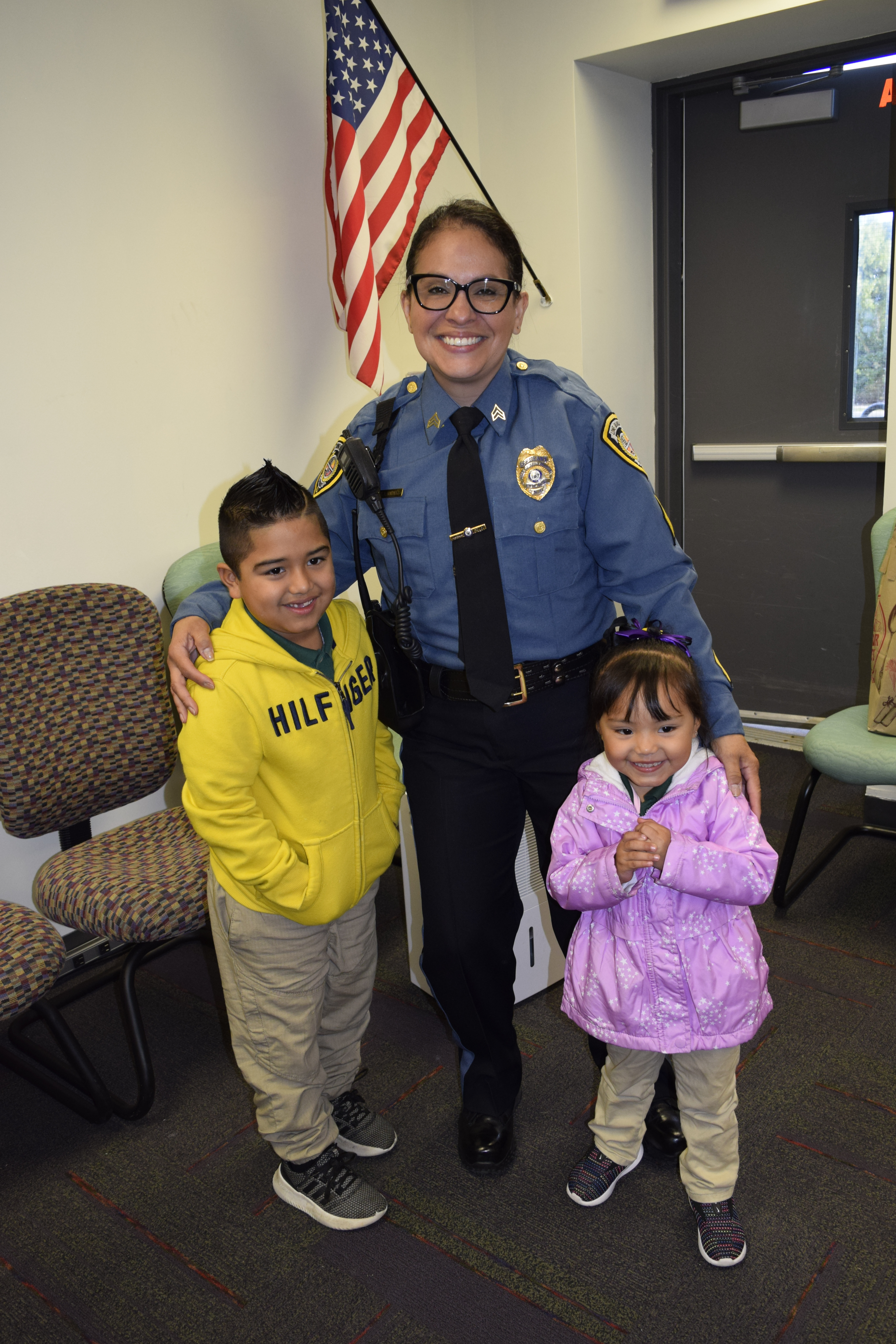 LBPD officer and young guests